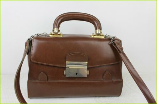 vintage main cuir Excellent ᄄᄂ qualitᄄᆭ en foncᄄᆭ Sac faux marron mnNOv80w
