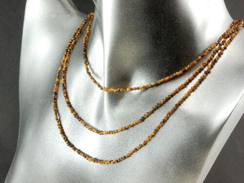faceteados balas 2 mm marrón//1835g 3x tiger ojo cadena sin cierre