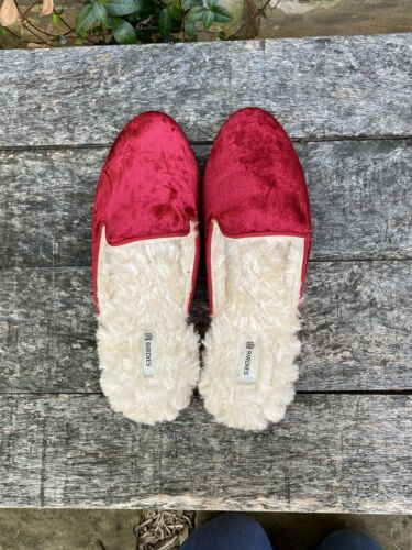 Birdies Red Velvet Shoes