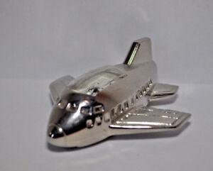 Miniatur Uhr  -  Massiv  -  Quarz - als Flugzeug
