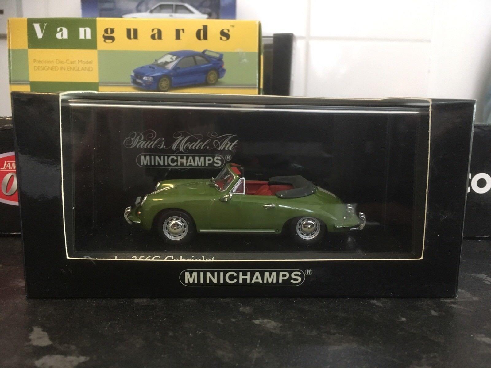 Minichamps Porsche 356C Cabriolet 1965 Green Weidengrun 1 43 MIB Ltd Ed