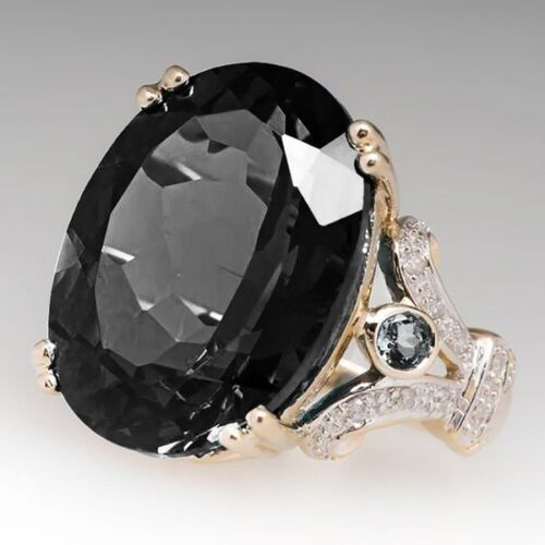 Silver Women Oval Cut Gemstone Birthstone Wedding Engagement Ring Wholesale 6-10