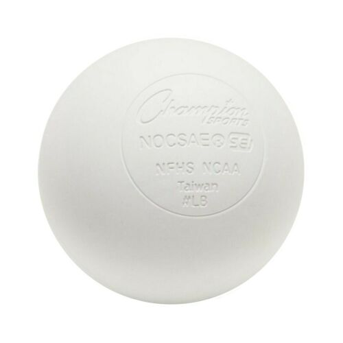 White Single Champion Sports Official Size Rubber Lacrosse Ball