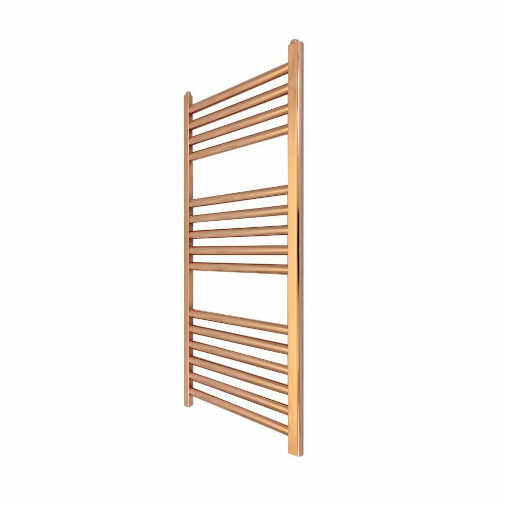 300mm x 800mm Straight Copper Bathroom Heated Towel Rail Radiator 895 BTUs
