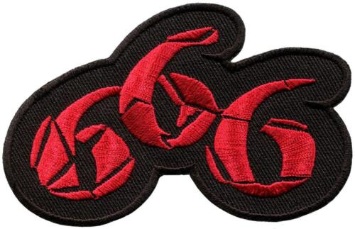 666 nombre de la bête satanique démoniaque occulte Applique iron-on patch S-672 NEUF