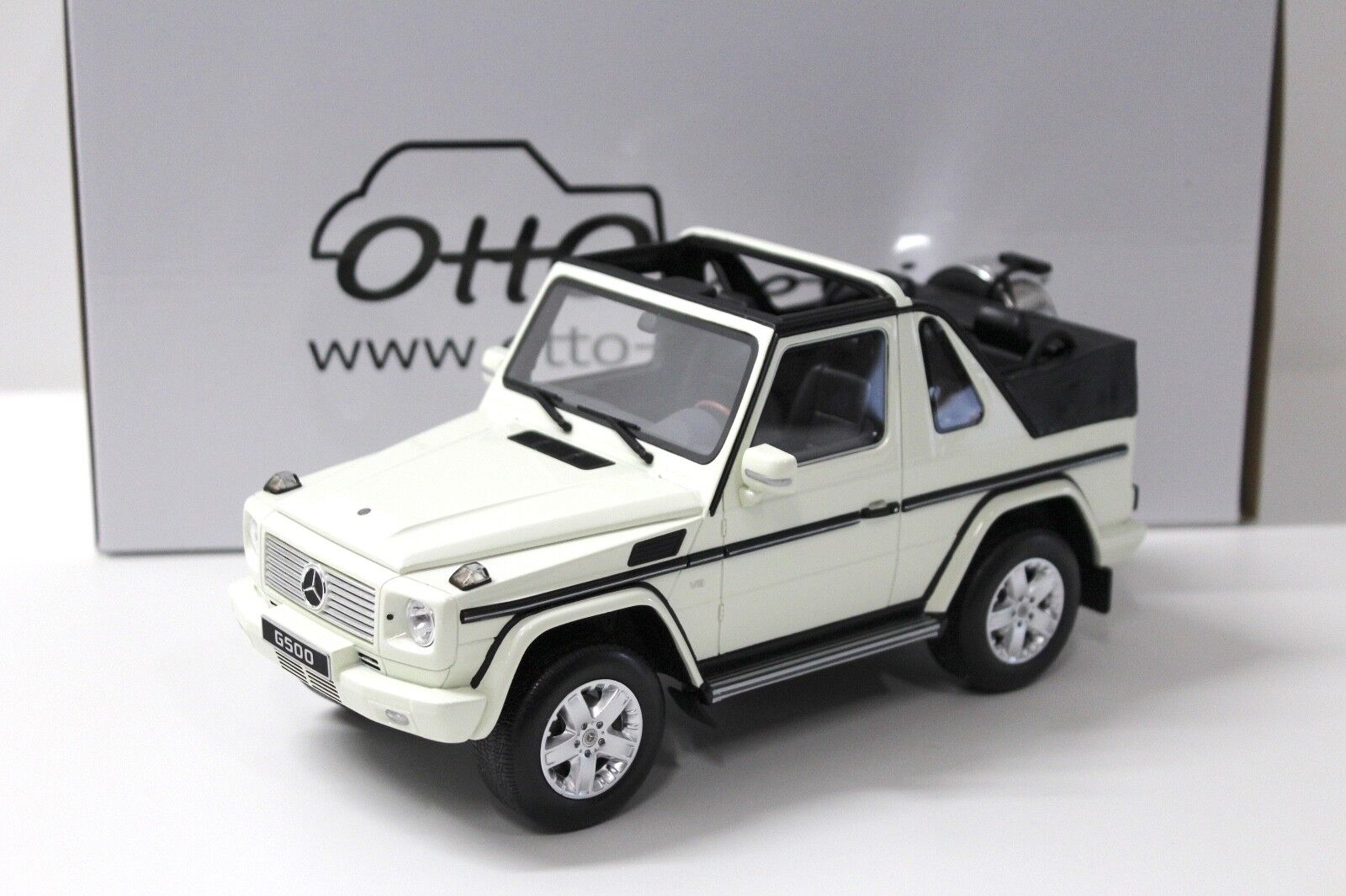 1 18 Otto Mercedes G-Klasse g500 converdeible bianca New en Premium-modelcars
