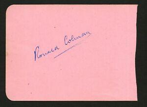 Ronald Colman (d. 1958) signed autograph 4x5 Album Page Actor A Double Life