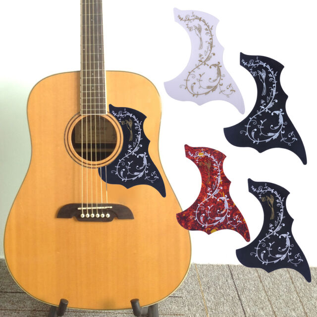 4pcs acoustic guitar pickguard hummingbird scratch plate adhesive background ebay. Black Bedroom Furniture Sets. Home Design Ideas