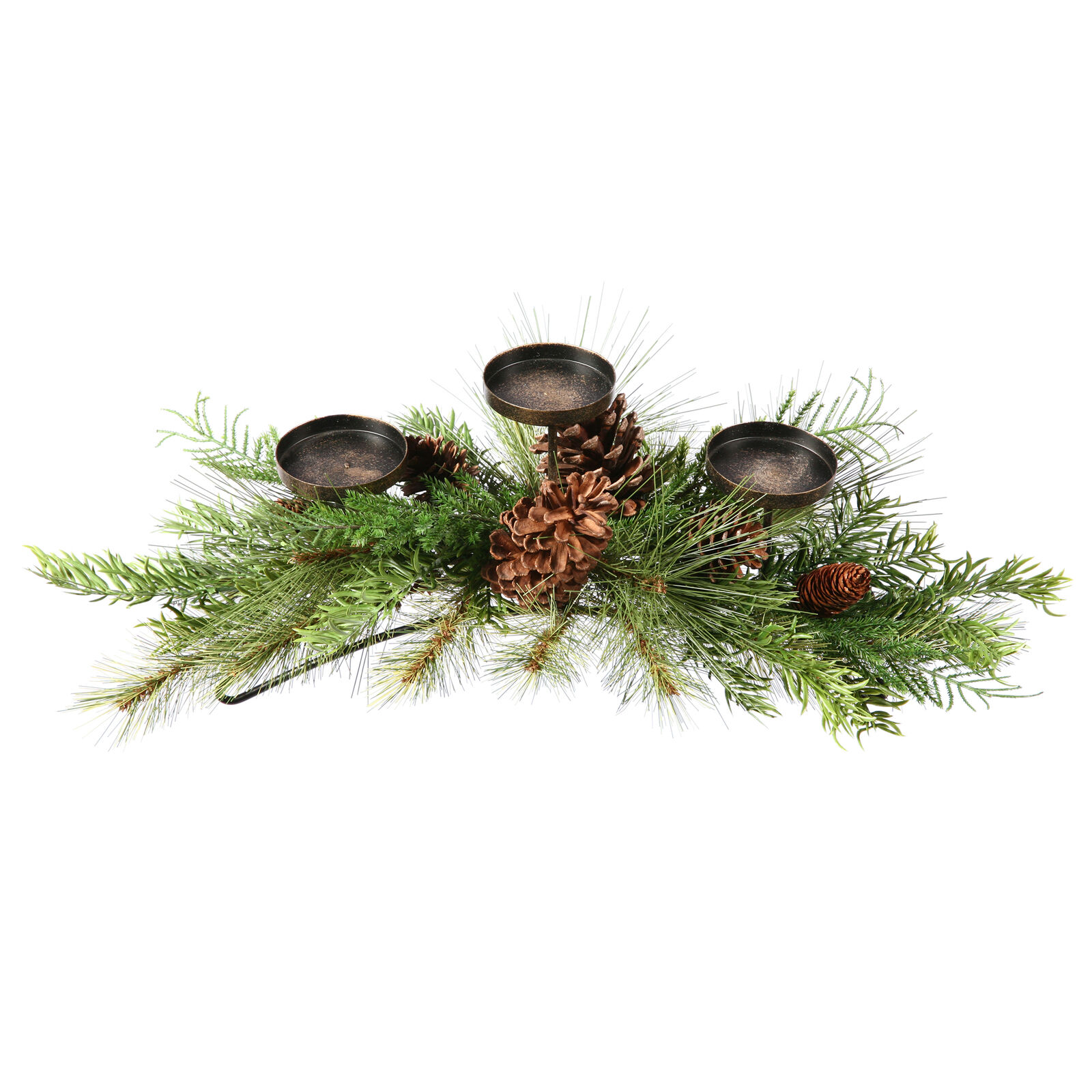 24  Lometa Mix Pine Candle Holder for 3 3  Candles