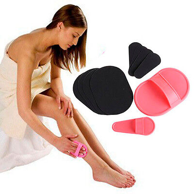 HOT Exfoliating Facial Arms Legs Body Skin Hair Removal Exfoliator Pads Sets