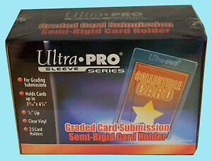 25-ULTRA-PRO-SEMI-RIGID-GRADED-Card-Holder-NEW-Sleeves-PSA-BGS-Submission-43000