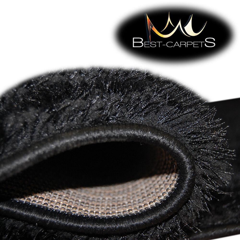 Épais Épais Épais Tapis Moelleux & Doux Poilu Verona Polyester Noir Tapis en 16 Tailles 2c98a9