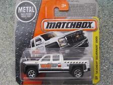 Matchbox 2016 #059/125 2014 Chevy SILVERADO 1500 white MBX CONSTRUCTION Case F