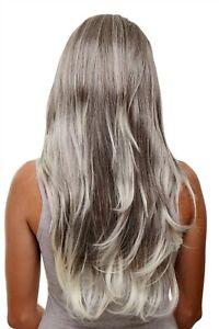 Clip-In-Postiche-7-Attache-3-4-Perruque-Braun-Blond-Mix-Env-60cm-H9505-6T613
