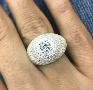 925-Sterling-Silver-Handmade-Authentic-Turkish-Zircon-Ladies-Ring-Size-6-12