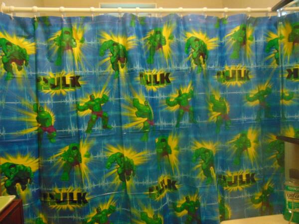 100% Kwaliteit Marvel The Movie Hulk Vinyl Shower Curtain 70 X 72 En Om Een ​​Lang Leven Te Hebben.