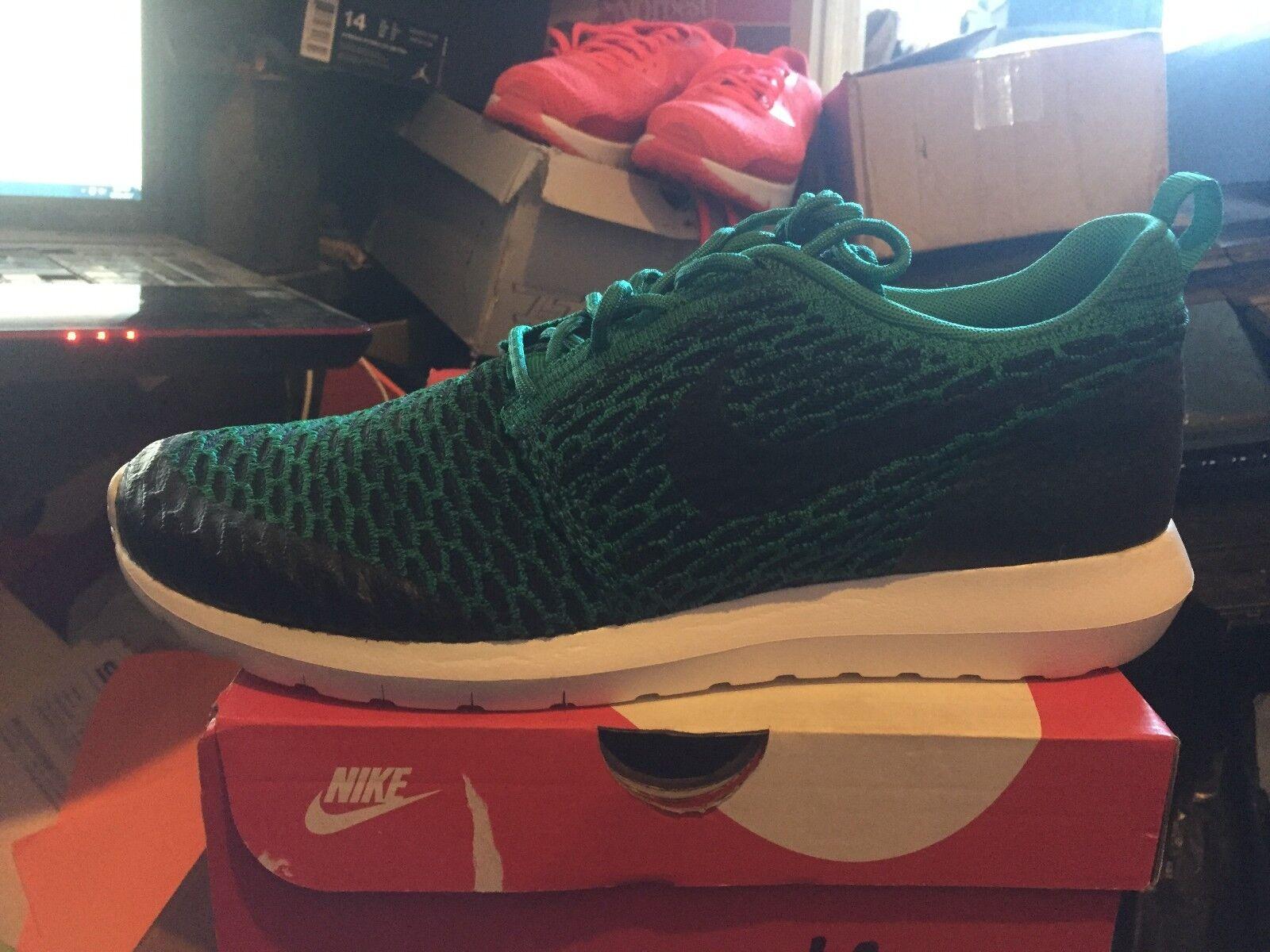 Nike roshe nm flynit se bnib klare grüne / blk / Weiß größe 9,5 816531 300