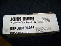 John Bunn Oxygen Regulator 0-15 Lpm H-nut Style W/gauge Jb0150-086