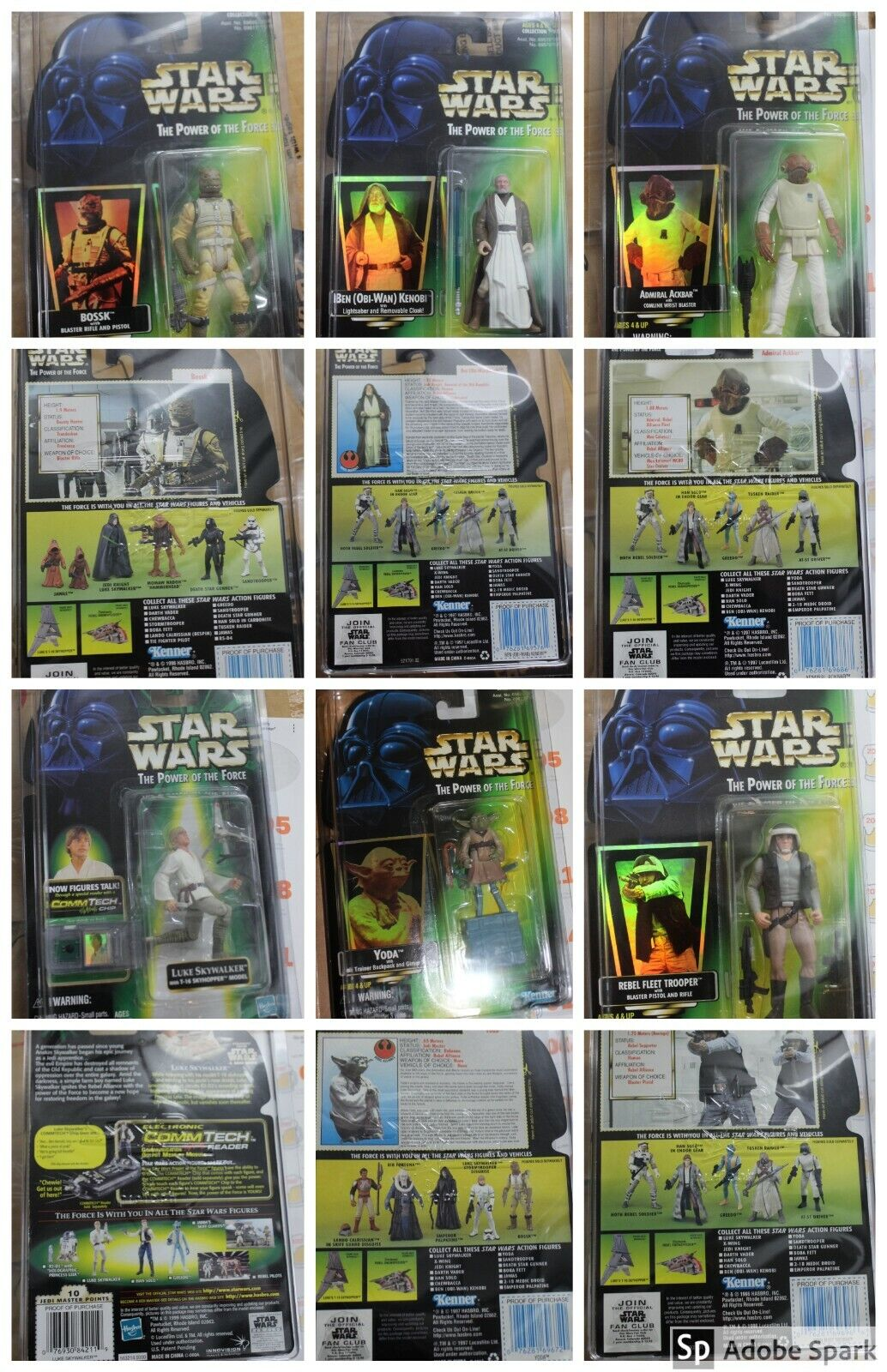 HUGE estrella guerras POTF  POTJ POTF2 cifras lot of nuovo ON autoD w gratuito CASES - 25 Figs  una marca di lusso