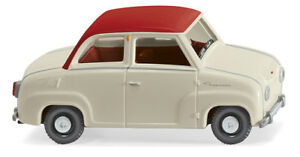 WIKING-018403-Glass-Goggomobil-Pearl-White-Traffic-Red-Car-Model-1-87-H0