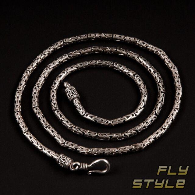 Cadena Pulsera plata 925 BIZANTINO collar pulsera Real nesi005 _ 3 , 5mm