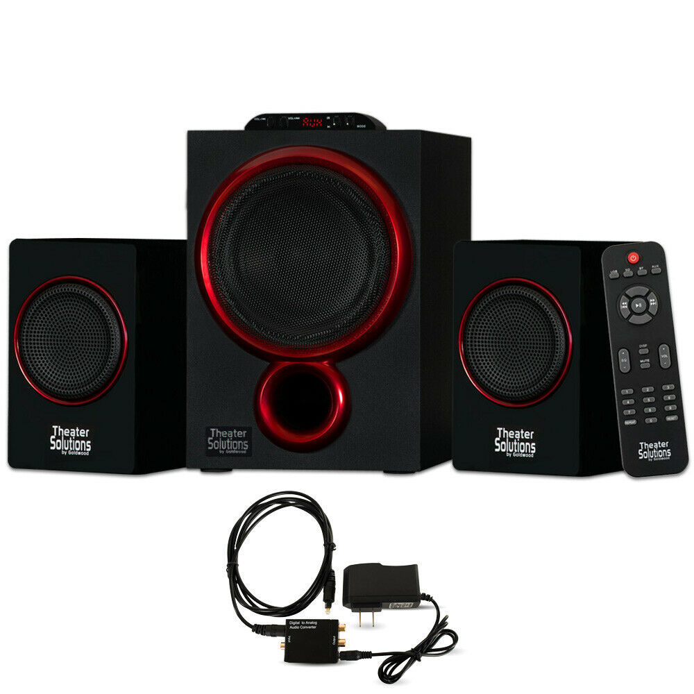 Theater Solutions 2.1 blueetooth Speaker System with Digital Optical Input for TV