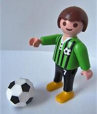 Playmobil Dollshouse/Escuela/Deporte Niño Figura: niño con Fútbol Nuevo