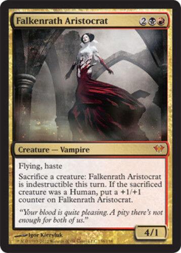 Moderate Play Foil English 1x MTG Dark Ascension Falkenrath Aristocrat