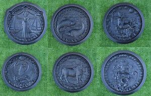 6 pcs SIGNS ZODIAC MOLD HOROSCOPE CONSTELLATIONS CONCRETE PLASTER MOLDS #D07