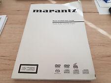 Originale Marantz Bedienungsanleitung für DV9600