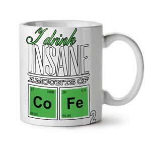 Coffee Chemistry Geek NEW White Tea Coffee Mug 11 oz   Wellcoda
