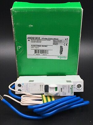 SCHNEIDER Acti 9 iC60H RCBO 32Amp 30 mA Type C A9D11832