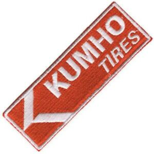 Kumho-Tires-iron-on-sew-on-cloth-patch-99mm-x-34mm-os
