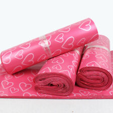 Pink Heart Mailers Shipping Envelopes Self Sealing Plastic Mailing Bags