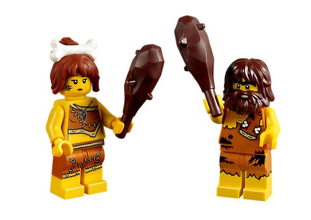 Lego ® Lot x2 Minifig Figurine Pirate Homme  Cavernes Femme des Cavernes  & Gourdins NEW e23276