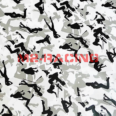 "12""x60"" Morning Wood White Wood CAMO Camouflage Vinyl Wrap Decal Sticker Skin"