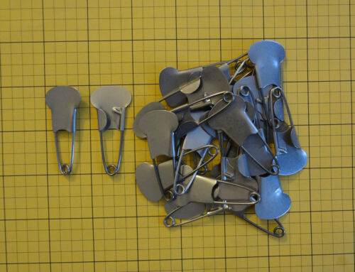 "Major Stainless Steel M1 MarkingSafety Pins 25 pieces. 2"" long."
