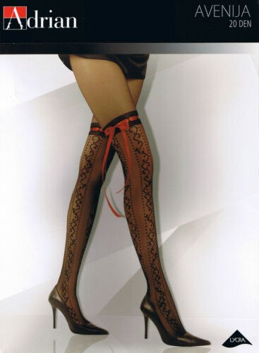 "MOCK SUSPENDER STOCKINGS-TIGHTS-ADRIAN /"" AVENIJA /"" 20 DENIER"