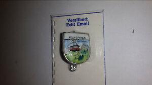 Ancien Voyage Souvenir Broche Fellhornbahn Argenté Email-afficher Le Titre D'origine éLéGant En Odeur