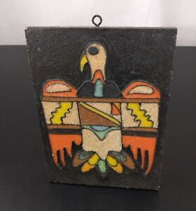 Sand Art Tile Thunder Bird Indian New Mexico USA Native