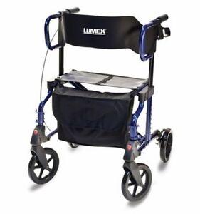 Lumex Hybrid Rollator Transport Chair Combo Rollator