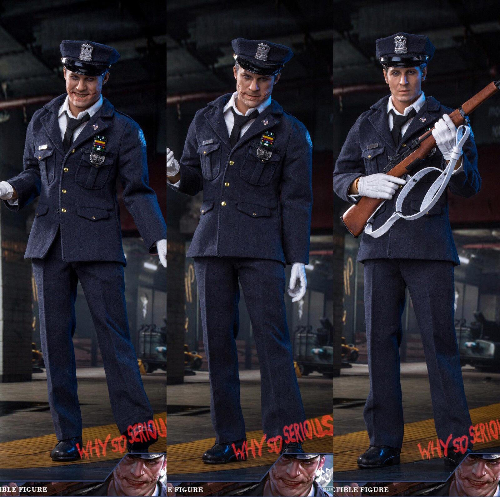 1 6 Police Joker Deluxe Figure USA Dark Knight Knight Batman DX Toys Hot Burning Soul