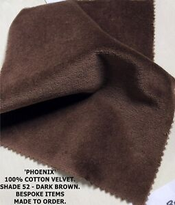 1-PAIR-MADE-TO-MEASURE-DARK-BROWN-COTTON-VELVET-LINED-CURTAINS-WIDE-LONG-BAY-FR