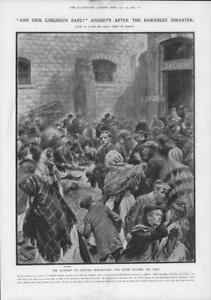 1908-Antique-Print-YORKSHIRE-Barnsley-Institute-Disaster-Children-Hall-138