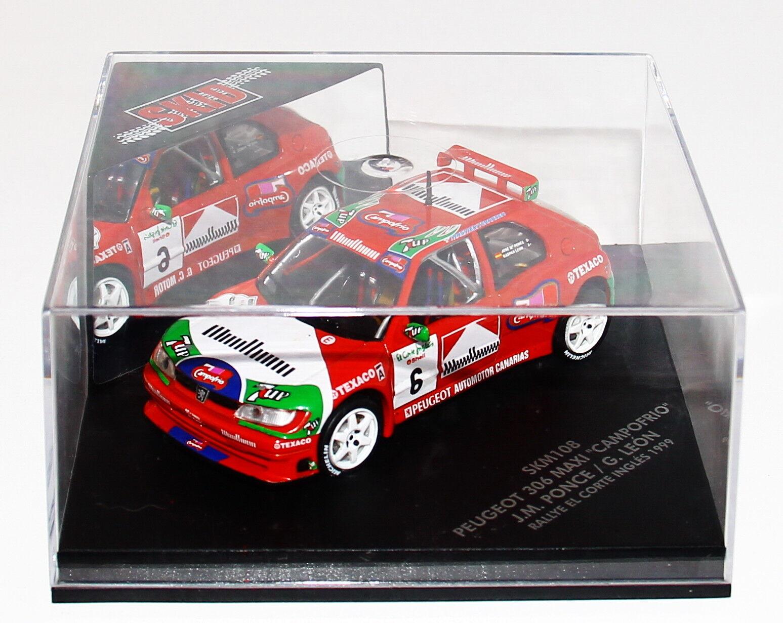 1/43 Vitesse Skid SKM108 Peugeot 306 Maxi Rallye El Corte Ingles 1999 Ponce RARE