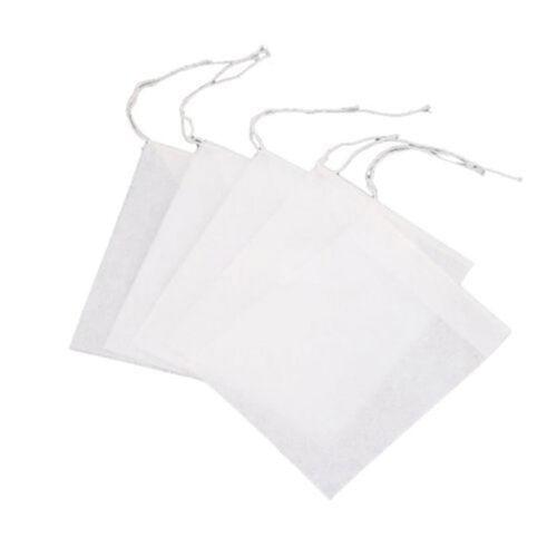 100x vides sacs à thé ficelle chaleur filtre papier filtre à thé sachets de thé^