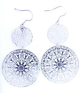 Silver-coloured-thin-cut-out-circle-chandelier-earrings