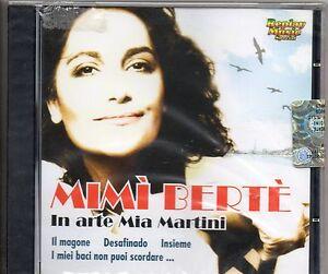 MIMI BERTE in arte MIA MARTINI CD MADE in ITALY FUORI CATALOGO nuovo SIGILLATO - Italia - MIMI BERTE in arte MIA MARTINI CD MADE in ITALY FUORI CATALOGO nuovo SIGILLATO - Italia