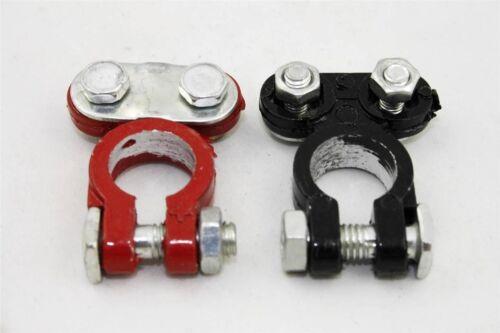 12V Heavy Duty farbige Auto Batterie Anschlussklemmen 1 Pos rot und 1 Neg Black