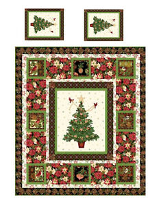 image is loading miniature dollhouse christmas tree quilt top computer printed